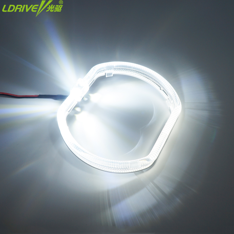 LDRIVE Car Light Guide Angel Eyes 2pc/lot 120MM Ultra Bright Light Car LED Headlight Angel Eyes ring for BMW,Audi,Kia,Universal 9005 led headlight 30w 3000lm car led headlamp bulb fog light 6000k 12v for audi bmw mercedes benz buick cadillac citroen kia