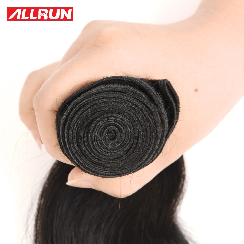 ALLRUN Hair Brazilian Straight Hair 3 Pcs Human Hair Bundles Non Remy Hair Extention Natural Color 8-28 inch Free Shipping
