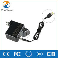 20V 3.25A ac dc adapter charger for lenovo Square dc tip travel protable universal adapter