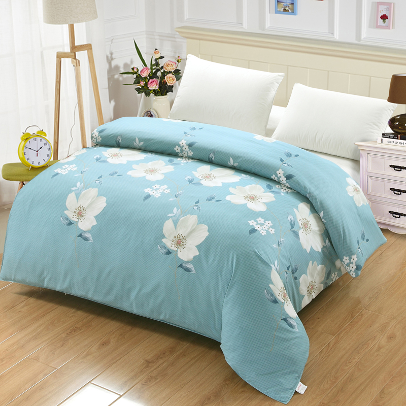 Comfortable Soft 100% Cotton Quilt Cover Blue Down Jacket Queen Queen Double King Cute Bear Set Large Sofa / Bed / Travel
