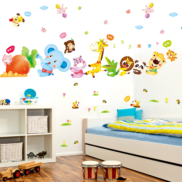 Creative Harvesting Carrot Wall Stickers Waterproof Diy Animal Theme Nursery Poster For Baby Room Decoration