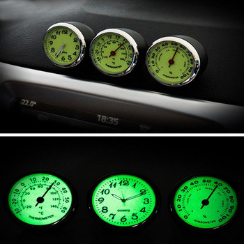 3PCS/Set Car Digital Thermometer Auto Digital Watch Car Electronic Clock Automotive Car Clock Ornaments onewell high quality 3in1 digital lcd clock screen car auto vehicle time clock thermometer voltage two color luminous