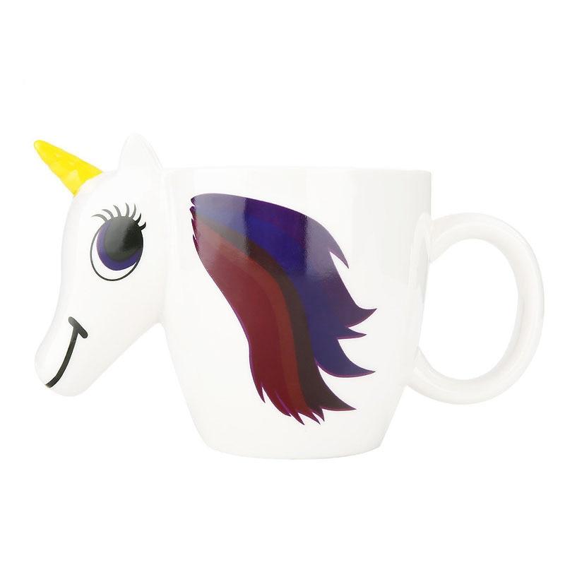 3D Unicorn Temperature Color Changing Ceramic Mug 300ML - Great Christmas Gift 5