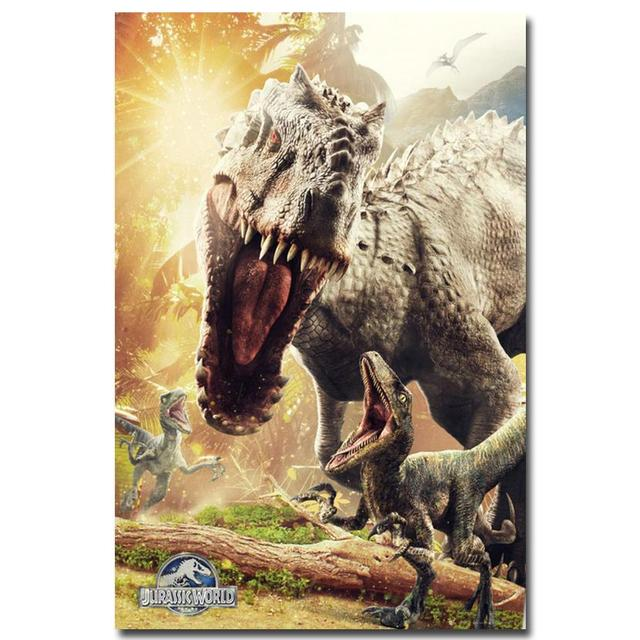 Плакат гобелен шелковый Мир Юрского периода