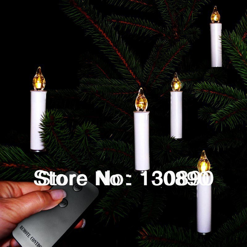 battery operated 10pcsset led candle light with remote control for christmas tree party wedding home decor decorative candles in candles from home garden - Battery Operated Christmas Candles