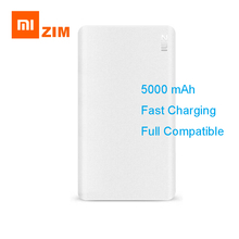 Xiaomi Original ZMI 5000mAh Power Bank External Battery Portable Charging Two-way Quick QC2 Power Bank for smart phone Dropship