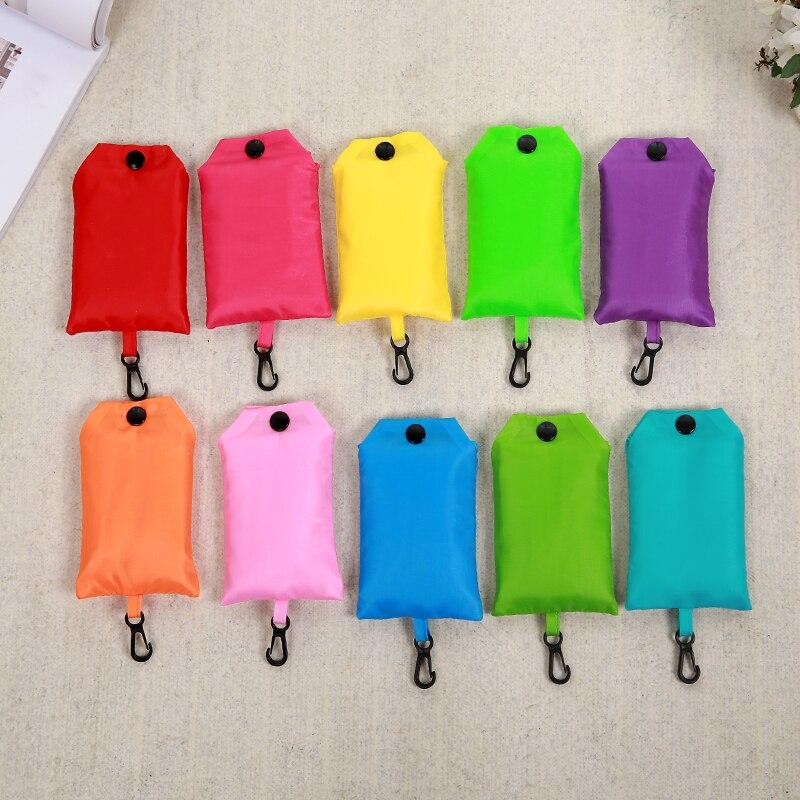 2019 Green Mobile Phone Bag Shopping Bag Eco-friendly Folding Reusable Portable Shoulder Handbag Polyester For Travel Grocery