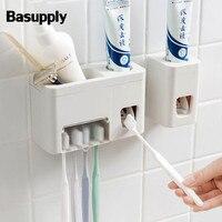 Basupply 1 ПК с креплением на стену, Автоматический Диспенсер зубной пасты, для зубной щетки держатель бритвенная стойка соковыжималка наборы а...