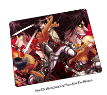 attack on titan mouse pad Domineering pad to mouse notbook computer mousepad present gaming padmouse gamer to laptop mouse mats