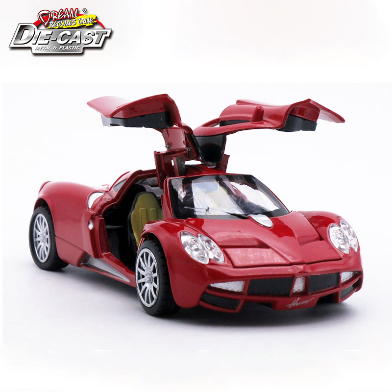Diecast Collection Pagani Huayra Scale Model As Boys/Kids Metal Vehicle Toys Gift With Openable Doors And Pull Back Function