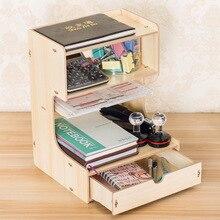Wood Magazine Organizers Holder Eco Friendly Multifunction Multilayer Drawer File Storage Box DIY Arrange Organizer Joy Corner
