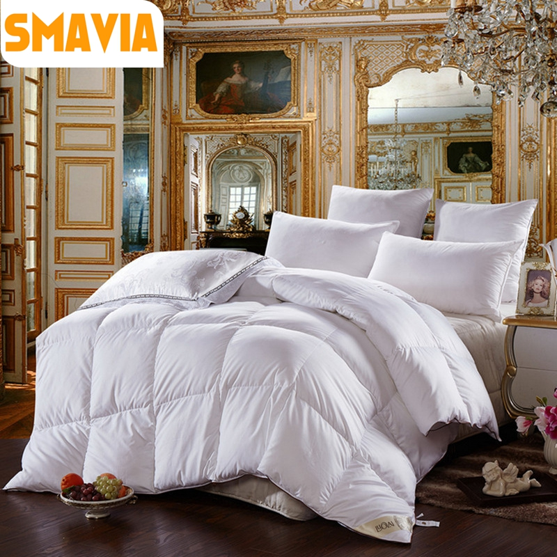 top sales 2kg5kg 95 goose down comforter winter warm goose down quilt high - Down Comforter Queen