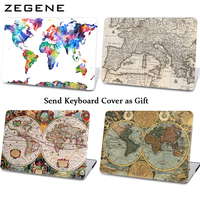 Retro Zeilen Kaart Patroon Hard Case Voor Macbook Laptop Cover Apple Macbook Air 11 13 Auto Cases Voor Macbook Pro 13 15 Retina