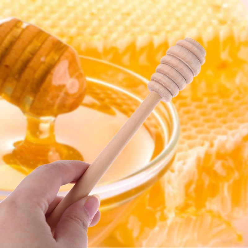 Hout Honing Roer Bar Mengen Handvat Pot Lepel Dipper Honing Lange Stok Levert Honing Keuken Gereedschap