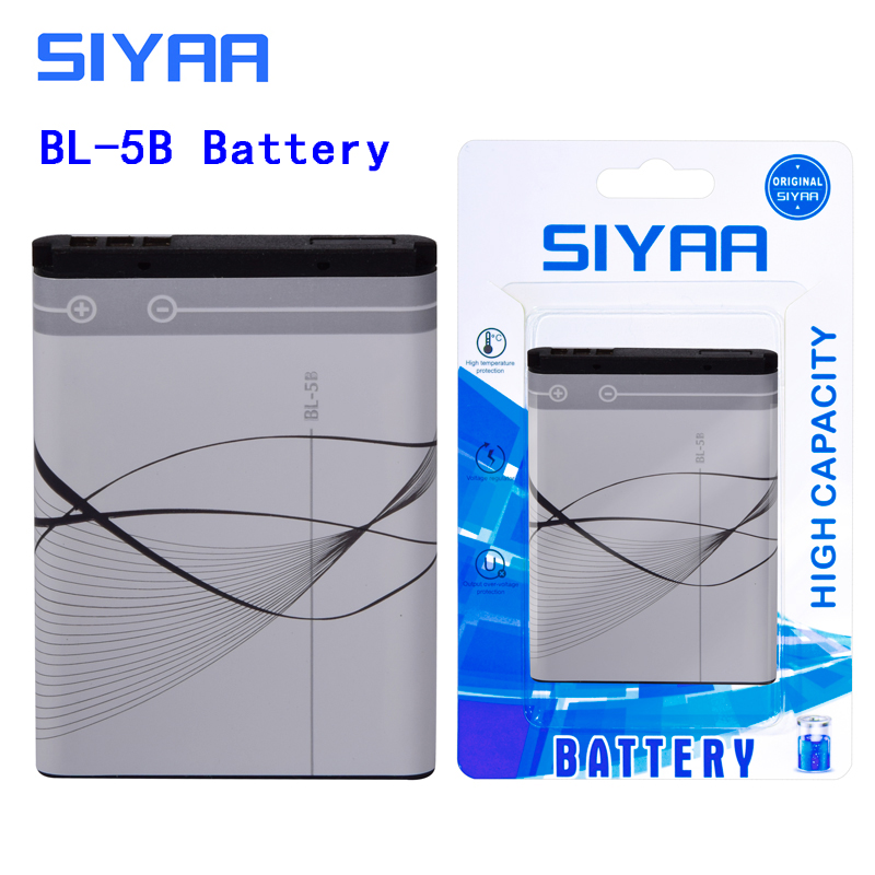 Image 2 - SIYAA Phone Battery BL 4C BL 5C BL 4B BL 5B For Nokia 6100 6300 6260 6136S 2630 5070 C2 01 Lithium BL 4C BL 5C BL5C Batteries-in Mobile Phone Batteries from Cellphones & Telecommunications