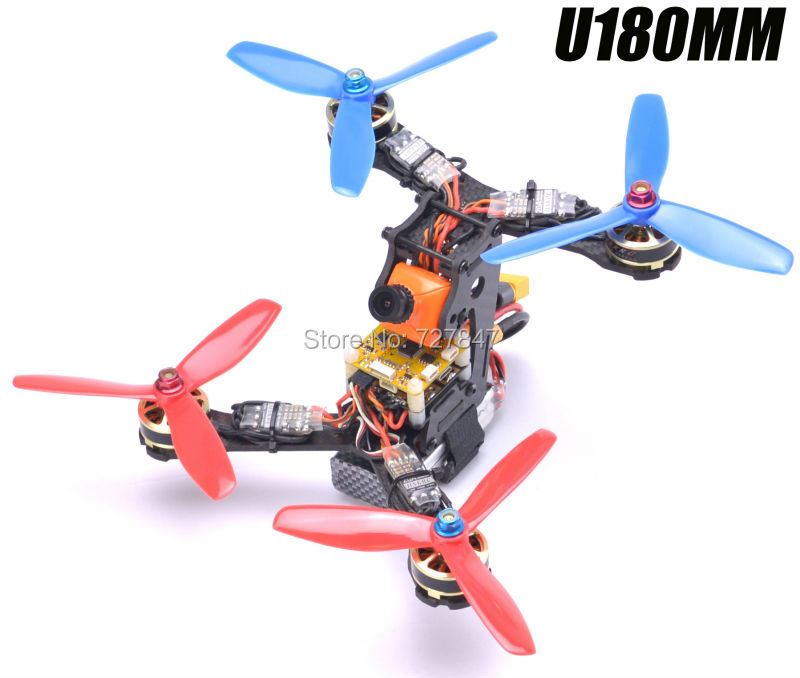 Mini DIY 180 180mm Carbon Fiber Quadcopter frame w/ 3mm thickness arm for U180 QAV-X  RC racking Drone Quadcopter Unassembled carbon fiber mini 250 rc quadcopter frame mt1806 2280kv brushless motor for drone helicopter remote control