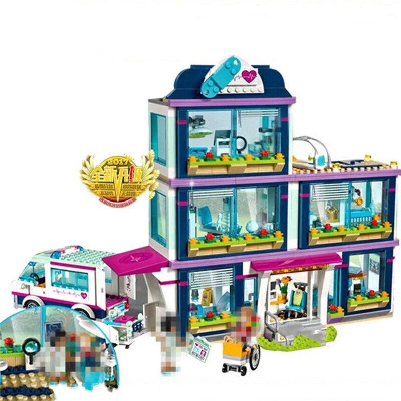 932Pcs 01039 Vrienden Girls Serie Bouwstenen Set Speelgoed Heartlake Ziekenhuis kinderen Bricks Speelgoed Voor Meisjes Jongens Geschenken Met 41318-in Blokken van Speelgoed & Hobbies op  Groep 1