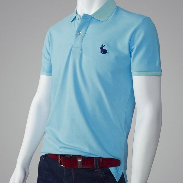 e14ba19a0818 TOUS LES taille Casual polo Hommes Solide polo chemise marques hommes  Britannique polo shirts tête de