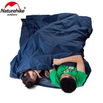 Naturehike 2 Persons Sleeping Bag Envelope Type Splicing Portable Outdoor Ultralight Sleeping Bag Spring Autumn Camping Hiking 4