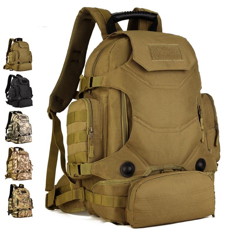 Men Assault Rucksack 3 Use Knapsack Waist Bag Military Multi-Functional Bags Laptop Daypack Waterproof Nylon Combined Backpack