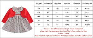 Image 5 - בגדי תינוקות פעוט ילדי תינוק בנות שמלת מקשה אחת ארוך שרוול פיטר פן צווארון פרחי הדפסת מסיבת נסיכת שמלת 2 צבע 0 2Y