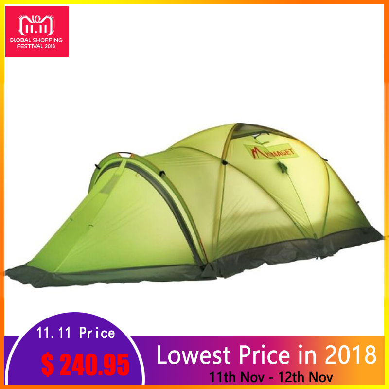 HIMAGET 4 Season Tent For Tourist 2 Person Aluminum Rod Double Layer Professional Climbing Hiking Winter Tents Outdoor Camping mobi outdoor camping equipment hiking waterproof tents high quality wigwam double layer big camping tent