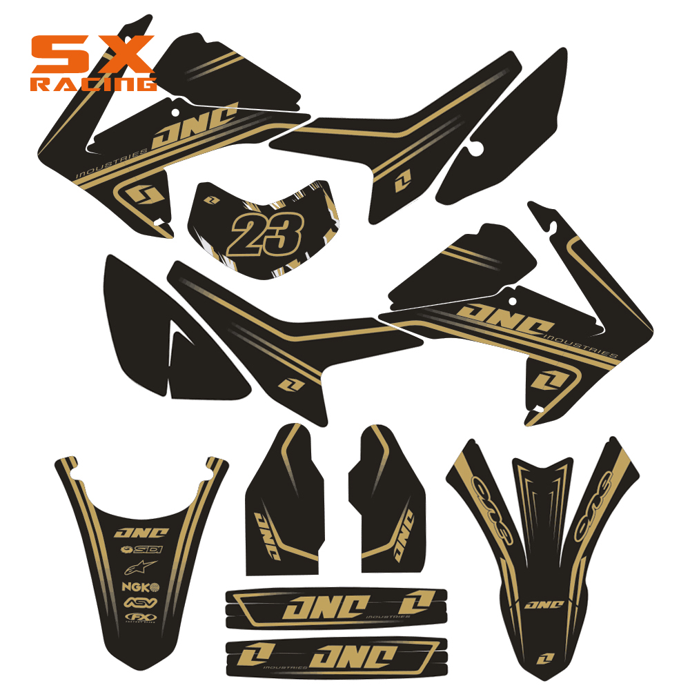 Motorcycle Decals Customize Pattern Custom Made Stickers Set For HONDA CRF250L 2013 2014 CRF Dirt Bike Motocross Motor Bike for honda crf 250r 450r 2004 2006 crf 250x 450x 2004 2015 red motorcycle dirt bike off road cnc pivot brake clutch lever