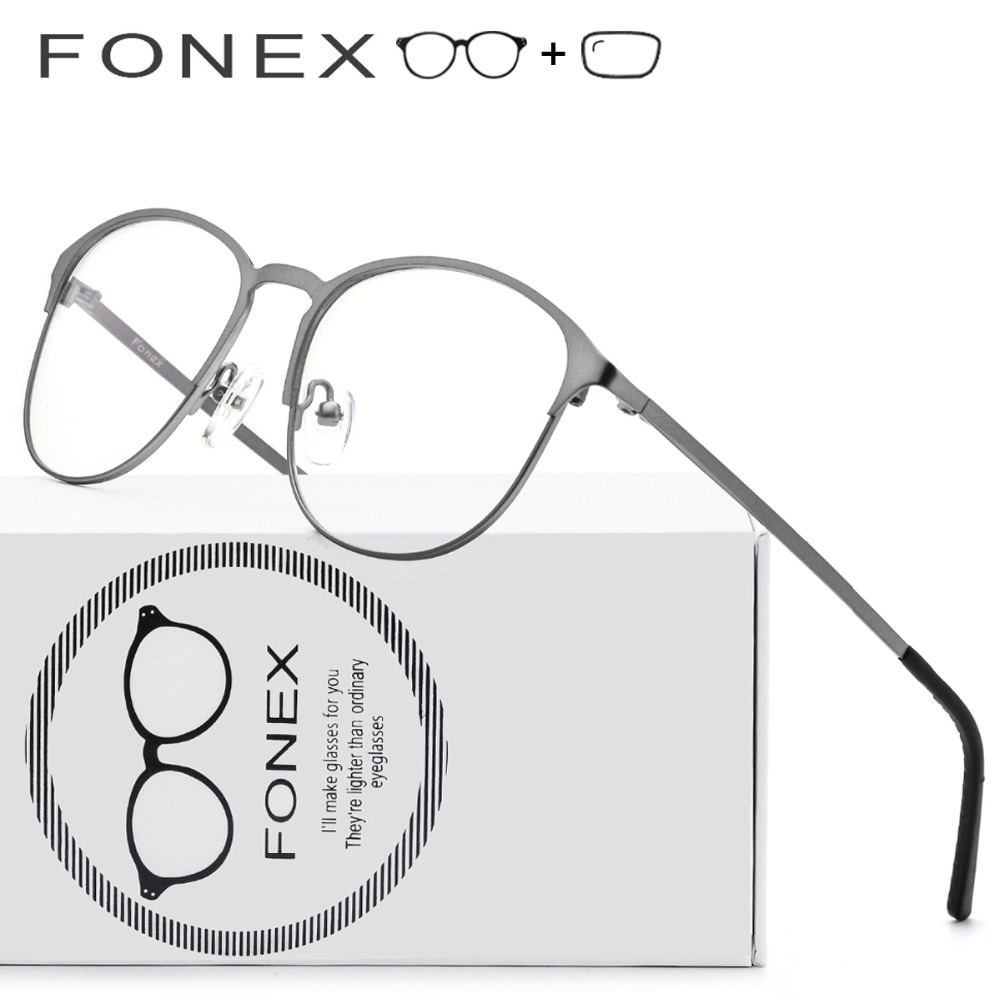 Titanium Eye Glasses Women Brand Designer Female Vintage Men Round Eyeglasses Myopia Optical Frame Eyewear Prescription Glasses 2016 new fashion sunglasses women brand designer sun glasses vintage eyewear