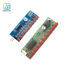 цены NE555+CD4017 Light Water Flowing Light LED Flashing Lights Module DIY Kit Smart Electronics Kits