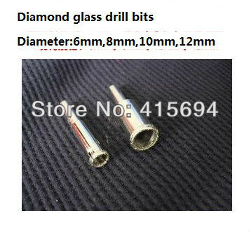 Free Shipping 4 PCS Set Diamond Coated Drill accessories Bits Hole Saw Glass Granite Cutter opener Bits 6mm-12mm