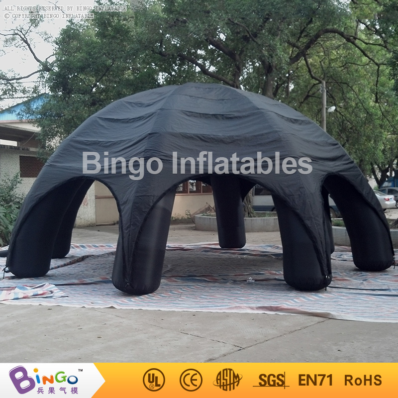 black Outdoor inflatable dome spider tent 8m with 6 legs for events/advertising/rental,pop up tent with blower BG-A0460 toy tent 6x3mh inflatable spider tent advertising inflatable tent inflatable party tent outdoor events tent