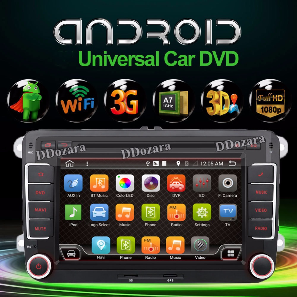 Quad Core font b Android b font 4 4 4 New 7Inch 2 DIN 800 480