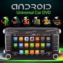 Quad Core Android 4.4.4 Nueva 7 Pulgadas 2 DIN 800*480 Del Coche DVD GPS Para VW Passat B6/B7/Passat CC con WiFi y Tarjeta libre 8G y mapa