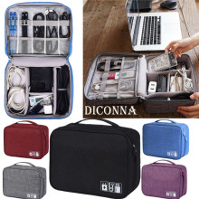 NoEnName AU Digital Storage Bag Travel Gadget Organizer Case For Hard Disk/USB/Data Cable Electronics Accessories Handbag