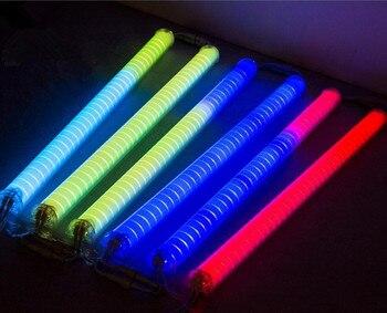 10pcs/lot Led digital tube RGB led tube light 36pcs 6Pixels 12W Internal control LED guardrail tube for Building decoration