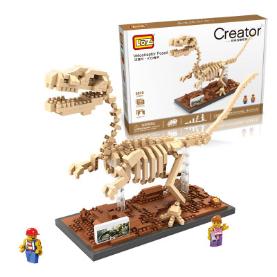 Blocks Toys & Hobbies Capable Dinosaur Fossil Raptor Skull Jurassic World Skeleton Building Block Building Block For Kid Compatible Legoing Packing Of Nominated Brand