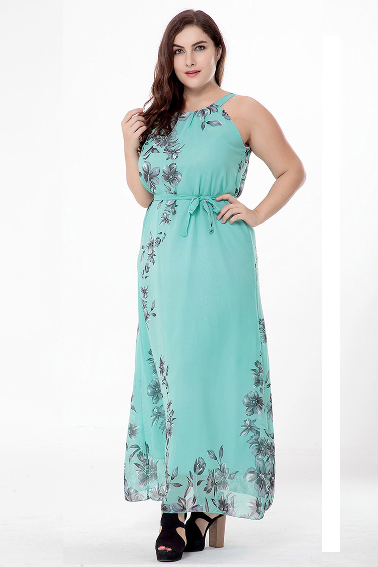 Plus Size Maxi Dress 2018 M-6XL Women Summer Bohomia Dress Vestidos Largos Robe  Femme Large Size 6XL 5XL Beach Dresses cf01508fe163