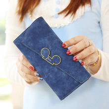 Fashion Long Style Women Wallet Designer Color Scrubs Ladies Mickey Purse Coin purses holders Lady Pocket Wallets  Purses цена