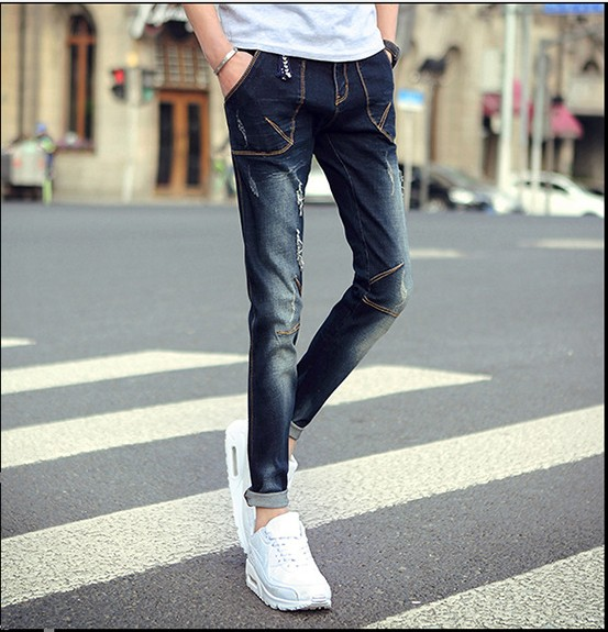 Spring and summer font b men s b font font b jeans b font and slim