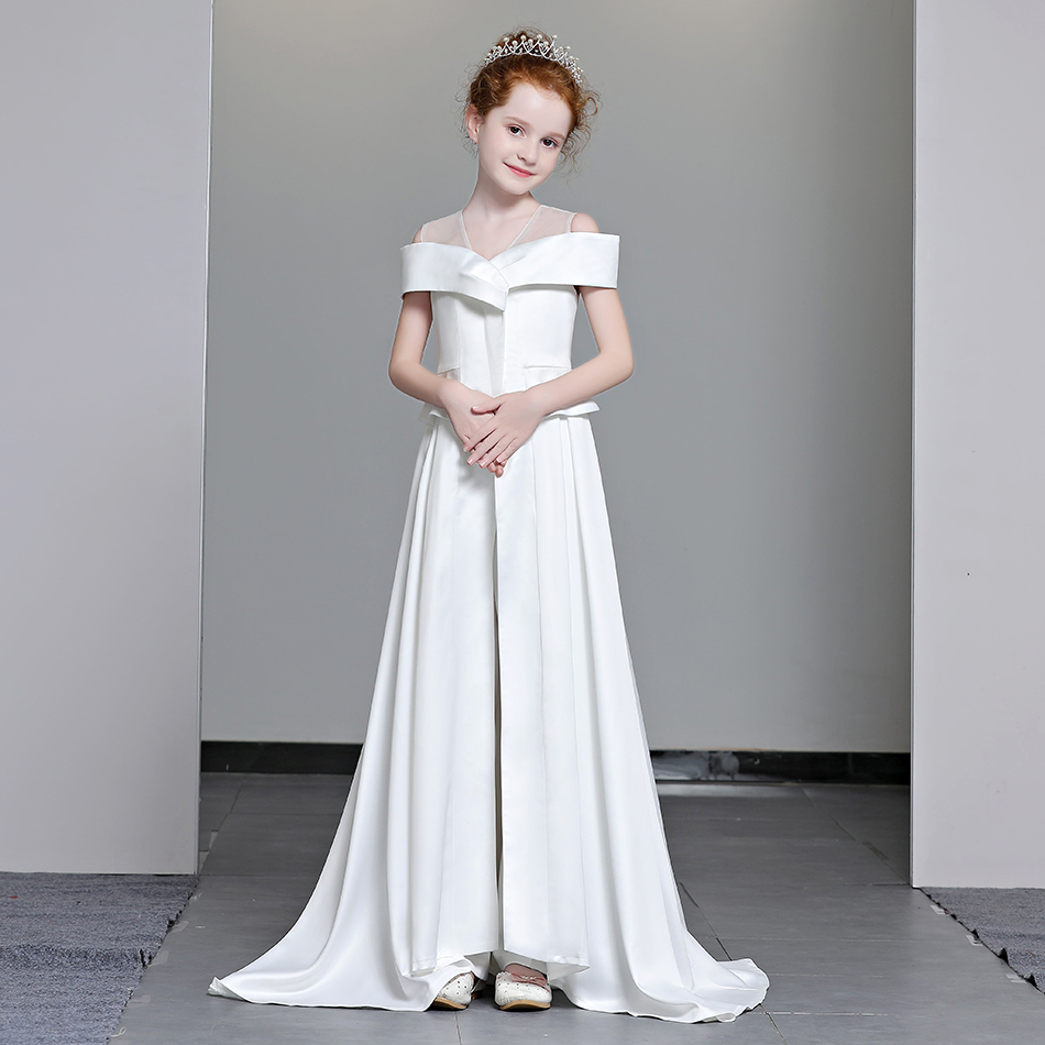 цена Marfoli A-Line Princess Dress For Prom Girls A-Line Shoulderless Dress with Train for Girls First Communion Pageant Dress