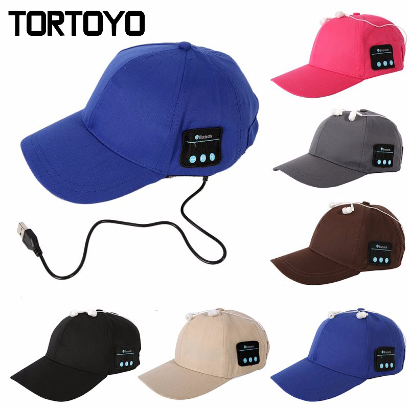 Unisex Outdoor Sports Smart Bluetooth Sun Hat Wireless Music Cap Handsfree Headphone Earphone With Mic Headset For Smart Phone 2017 foldable bluetooth headphone m100 headphone for smart phone with fitness monitor music streaming hands free calls