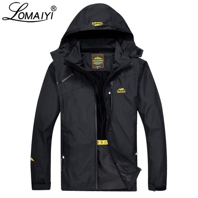 f91be22c48a LOMAIYI Men s Spring Autumn Jacket Men Light Waterproof Windbreakers Army  Green Work Hood Coat Mens Jackets