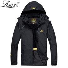Lomaiyi Для Мужчин's Демисезонный куртка Для мужчин свет Водонепроницаемый ветровки Армейский зеленый работы пальто с капюшоном Для мужчин s куртки Весте Homme AM255