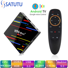 Get more info on the H96 MAX Smart Tv Box Android 9.0 Set Top Box 4K Mi ni Tv Box 4gb 32gb 64gb Quad Core media player Support IPTV PK X96 MINI HK1 M