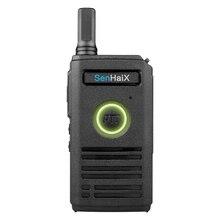 hot deal buy ultra slim two way radio with breathing lights pocket uhf 400-470 mhz mini walkie talkie 16ch 3-5km walkie\x2dtalkie ham radio