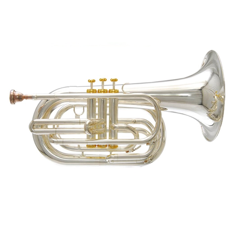 Купить с кэшбэком Bb Marching Baritone horn Brass musical instruments with Foambody case and mouthpiece