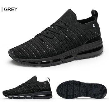 ONEMIX Men Running Shoes Jogging Footwear Knitted Summer Breathable Sneakers Walking Outdoor Sport Shoes Women Slip-On Sock Shoe 2