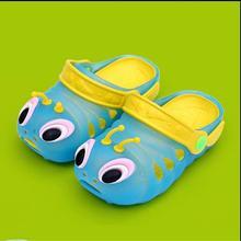 Летние caterpillar детей Для мальчиков и девочек сад обувь Дети мягким дном сандалии детские пляжная обувь с отверстиями;