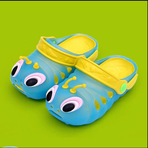 2018 Summer Caterpillar Children Boys And Girls Garden Shoes Kids Soft Bottom Sandals Baby Beach Hole Shoes Tide