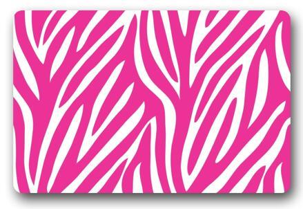 Personnalisé Paillasson Art Abstrait Rose Zèbre Tapis Chambre Tapis ...